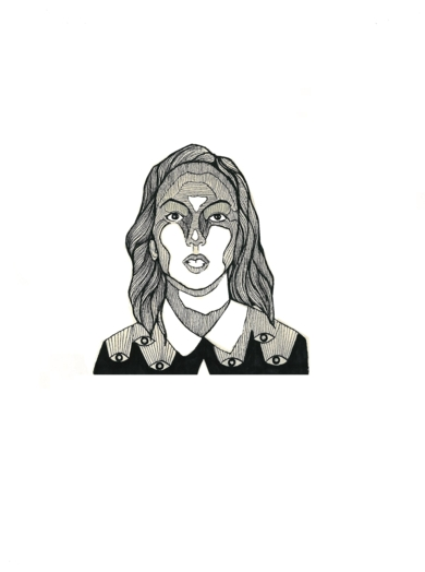 Blanca|DibujodeLucas Zapardiel| Compra arte en Flecha.es