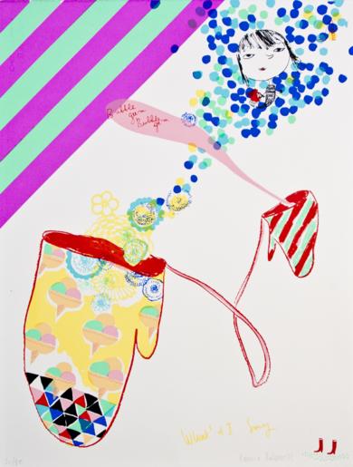 BUBBLE GUMM|IlustracióndeKatarzyna Rogowicz| Compra arte en Flecha.es