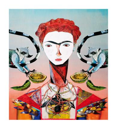 Frida Kahlo|CollagedeKatarzyna Rogowicz| Compra arte en Flecha.es