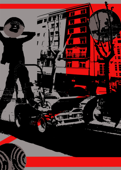 Ciudad extraña|Ilustracióndeandrock| Compra arte en Flecha.es