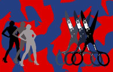 Dama con tijeras|Ilustracióndeandrock| Compra arte en Flecha.es