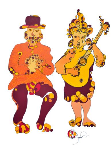 Pareja de Gitanos - Pair of Gypsies|PinturadeRICHARD MARTIN| Compra arte en Flecha.es