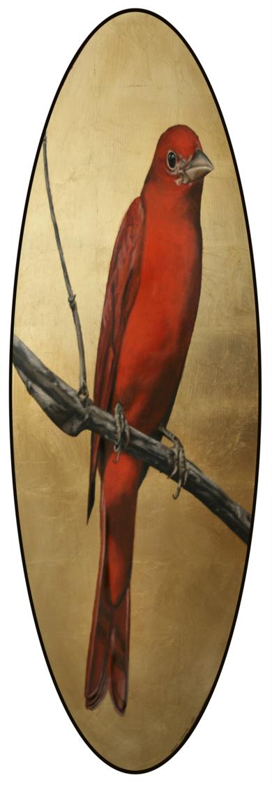 Canario rojo|DibujodeEnrique González| Compra arte en Flecha.es