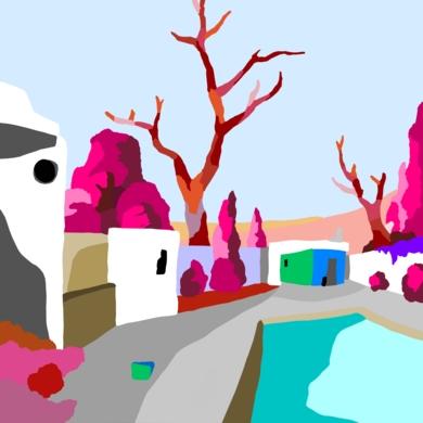 La casa de la piscina|DigitaldeAlejos Lorenzo| Compra arte en Flecha.es