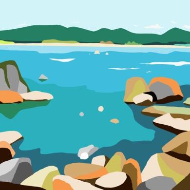 Rocas|DigitaldeAlejos Lorenzo| Compra arte en Flecha.es