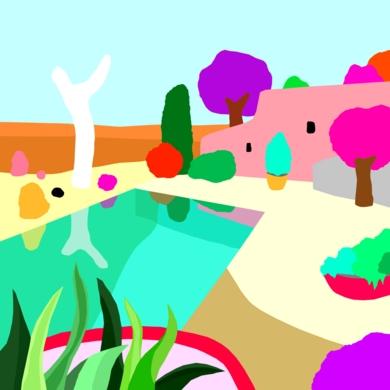 Casa soñada|DibujodeALEJOS| Compra arte en Flecha.es