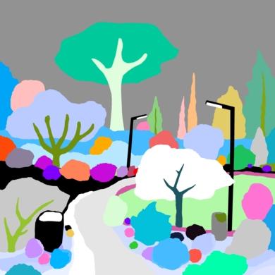 El parque de los pavos|DibujodeALEJOS| Compra arte en Flecha.es