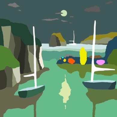 La bahía|DibujodeALEJOS| Compra arte en Flecha.es