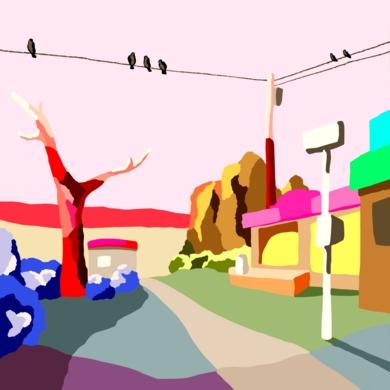 La pequeña tienda|DibujodeAlejos Lorenzo| Compra arte en Flecha.es