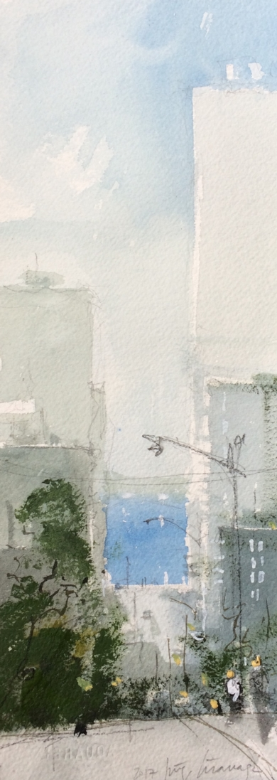 Mar entre calles|PinturadeIñigo Lizarraga| Compra arte en Flecha.es