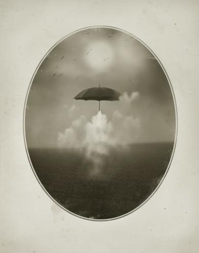 Paraguas y nube|DigitaldeOriol Jolonch| Compra arte en Flecha.es