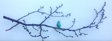 Rama de almendro con pájaro|EsculturadeCharlotte Adde| Compra arte en Flecha.es