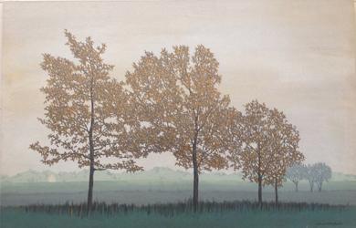 Cuatro árboles|PinturadeCharlotte Adde| Compra arte en Flecha.es