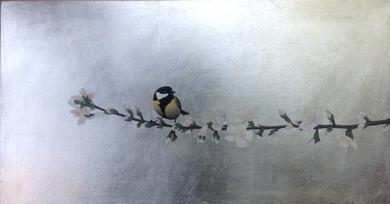 Almendro en flor I|PinturadeCharlotte Adde| Compra arte en Flecha.es
