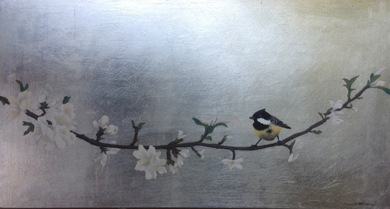 Almendro en flor II|PinturadeCharlotte Adde| Compra arte en Flecha.es