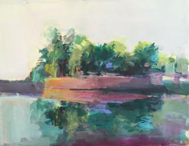 Lugares y Jardines Imaginarios XV|PinturadeTeresa Muñoz| Compra arte en Flecha.es