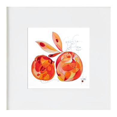 Naranjas|IlustracióndeRICHARD MARTIN| Compra arte en Flecha.es