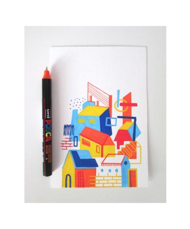 Street Life|DibujodeJuanjoGasull| Compra arte en Flecha.es