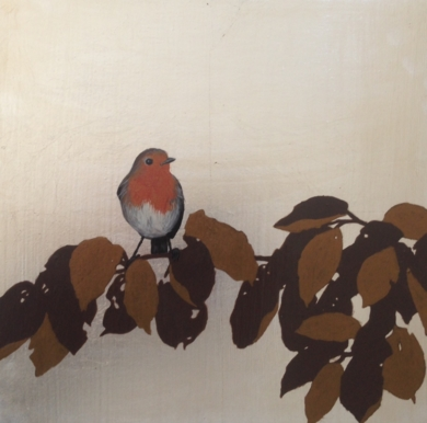 Petirrojo|PinturadeCharlotte Adde| Compra arte en Flecha.es