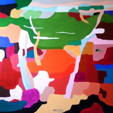 Quiero vivir en un plano abstracto II|PinturadeAlejos Lorenzo| Compra arte en Flecha.es