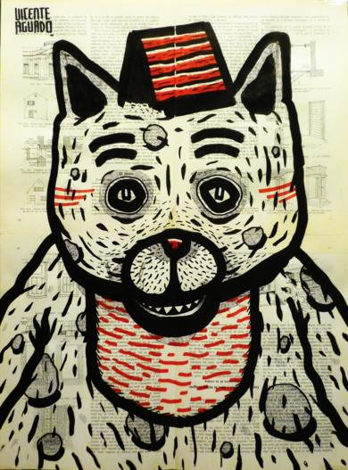 CAT HOUSE I|DibujodeVicente Aguado| Compra arte en Flecha.es