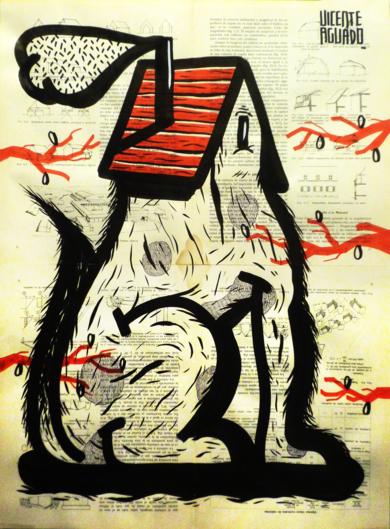DOG HOUSE II|DibujodeVicente Aguado| Compra arte en Flecha.es