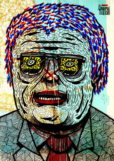 JONESTOWN 1977|DibujodeVicente Aguado| Compra arte en Flecha.es