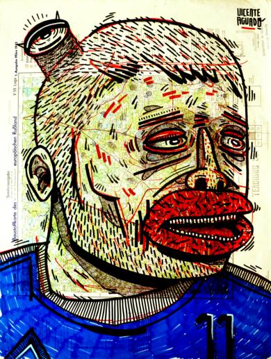 MK ULTRA SOCCER|DibujodeVicente Aguado| Compra arte en Flecha.es