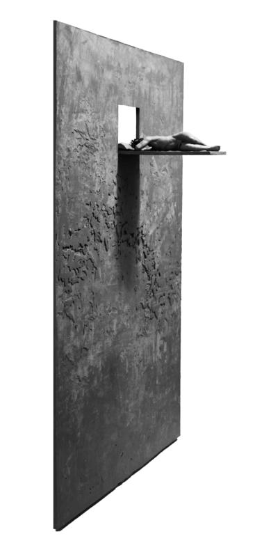 El muro|EsculturadeJorge Martín| Compra arte en Flecha.es