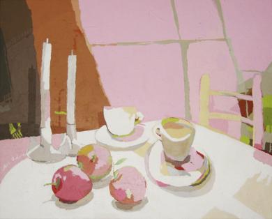 Desayuno con manzanas|PinturadeJavier AOIZ ORDUNA| Compra arte en Flecha.es