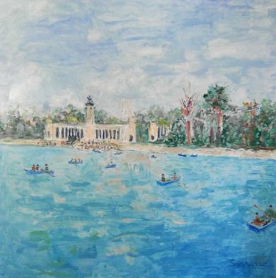El Retiro|PinturadeGuillermo Serrano de Entrambasaguas| Compra arte en Flecha.es