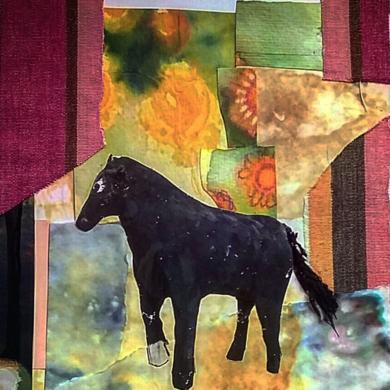 Caballito|CollagedeAna Agudo| Compra arte en Flecha.es