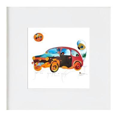 Seat 600 - 1957|IlustracióndeRICHARD MARTIN| Compra arte en Flecha.es
