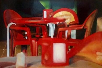Terraza de verano|PinturadeEnrique Pazos| Compra arte en Flecha.es