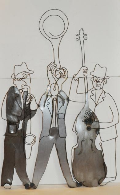 Jazz trío. EsculturadeJenifer Carey  Compra arte en Flecha.es
