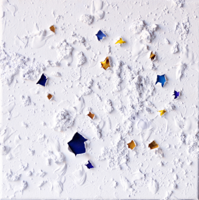 EMeRGeNCIaS Gold and Blue PinturadeCOVA RIOS  Compra arte en Flecha.es