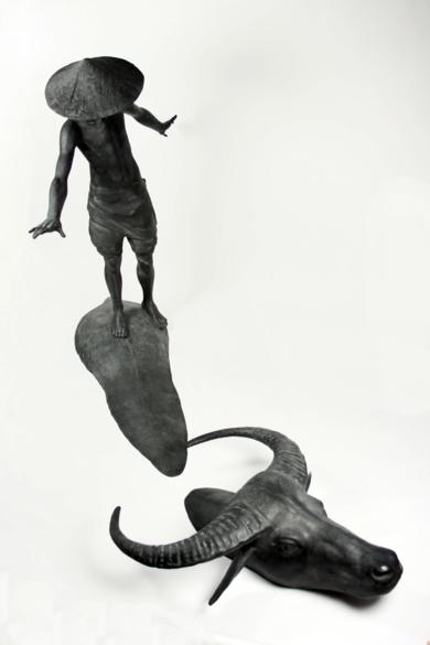 BIG CON TRÂU|EsculturadeJavier de la Rosa| Compra arte en Flecha.es