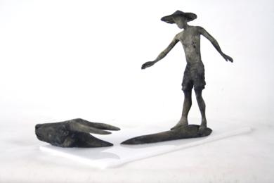 CON TRÂU|EsculturadeJavier de la Rosa| Compra arte en Flecha.es