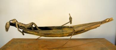 PESCADOR CORMORAN|EsculturadeJavier de la Rosa| Compra arte en Flecha.es