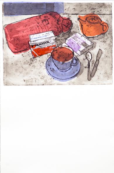 Los colores del desayuno|Obra gráficadeAna Valenciano| Compra arte en Flecha.es