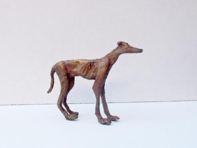 El galgo - Serie Granja famélica|EsculturadeAna Valenciano| Compra arte en Flecha.es