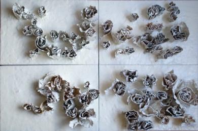 ROSAS BLANCAS|Esculturadebeatriz cárcamo| Compra arte en Flecha.es