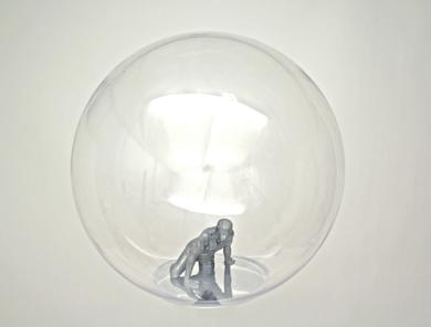 Burbuja mundo IV|EsculturadeMarta Sánchez Luengo| Compra arte en Flecha.es