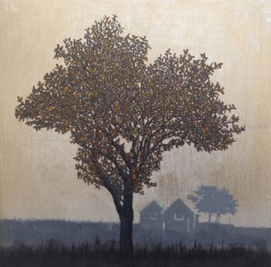 Miniatura con árbol 2|PinturadeCharlotte Adde| Compra arte en Flecha.es