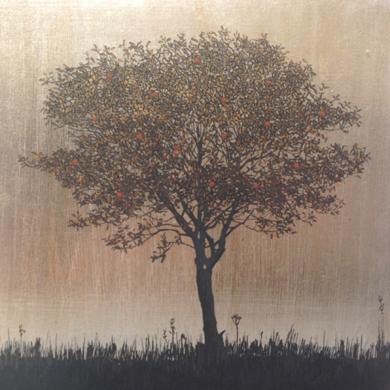 Miniatura con árbol 4|PinturadeCharlotte Adde| Compra arte en Flecha.es