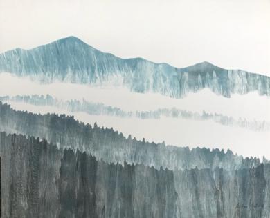 Montaña azul|PinturadeMilena Mateva| Compra arte en Flecha.es