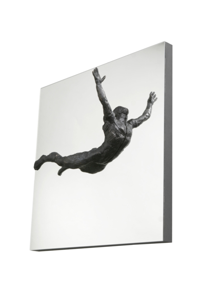 SALTO AL VACÍO|EsculturadeFernando Suárez| Compra arte en Flecha.es