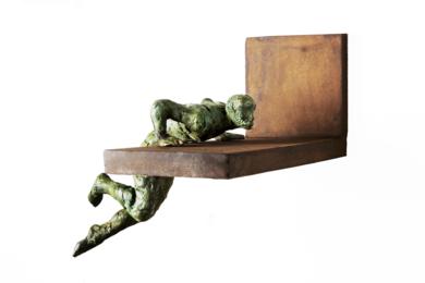 Saliendo Piscina|EsculturadeFernando Suárez| Compra arte en Flecha.es