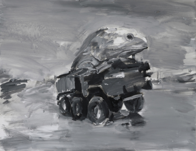 Animales en peligro de extinción (Tuátara de broter)|PinturadeXosé Vilamoure| Compra arte en Flecha.es