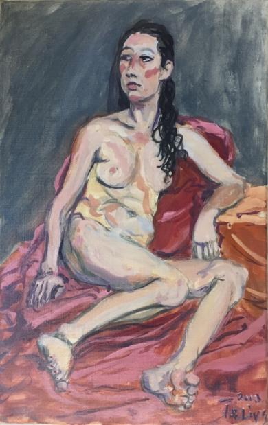 La Modelo Serbia|PinturadeJaelius Aguirre| Compra arte en Flecha.es